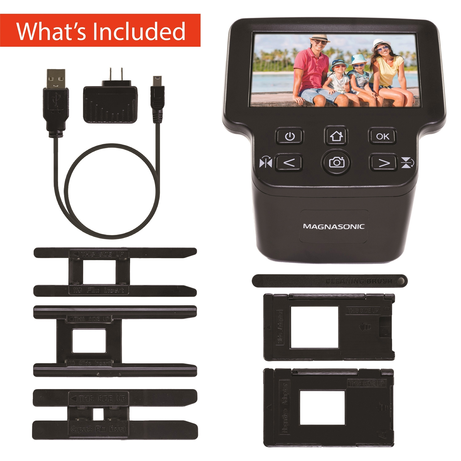 All-In-One 22MP Film Scanner - 5″ Display & HDMI