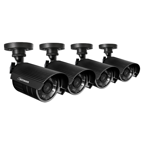 480TVL Outdoor Security Cameras 4 Pack with 75ft Night Vision (21002)