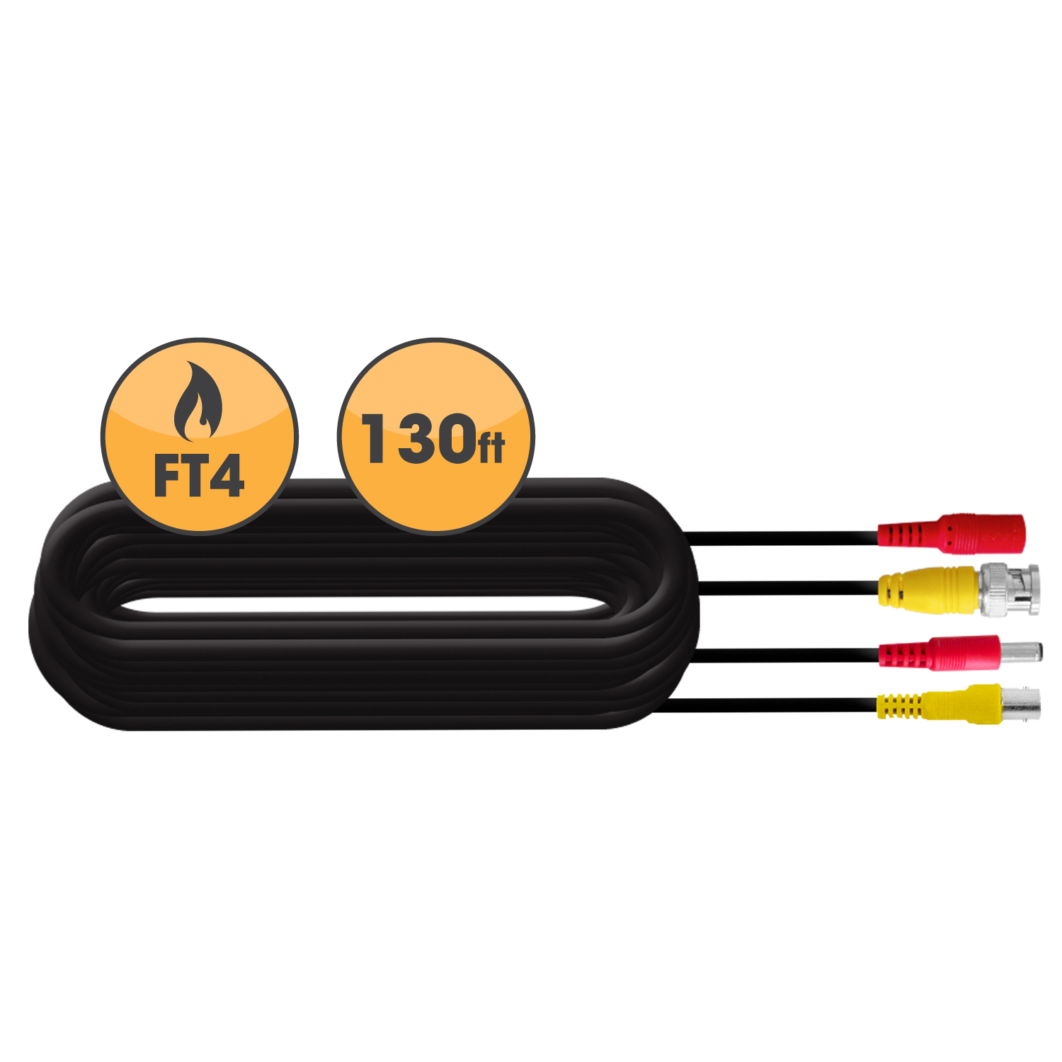 130ft In-Wall, Fire-Rated UL/FT4 Certified Extension Cable (21009)