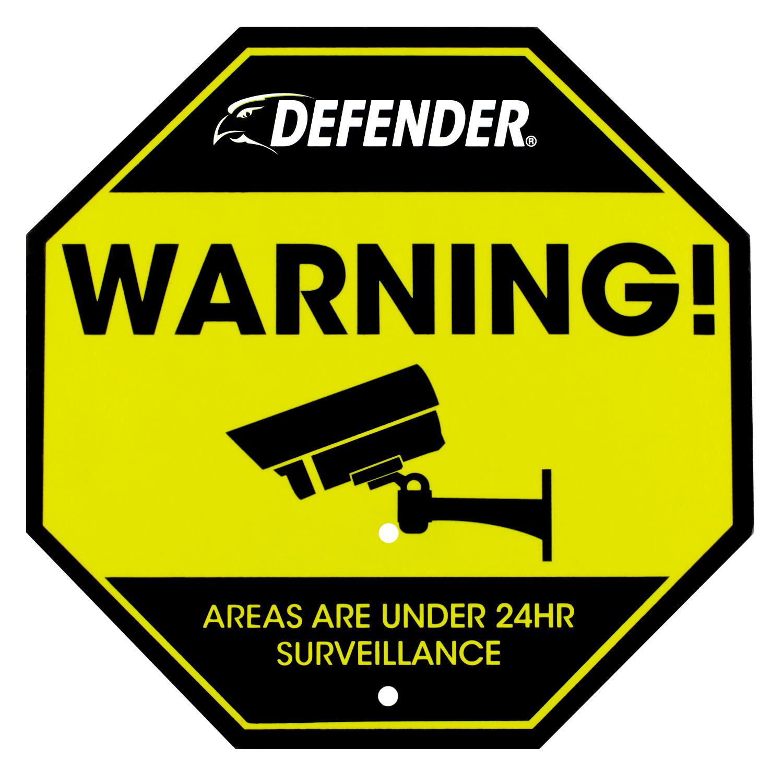 Reflective Security Yard Sign