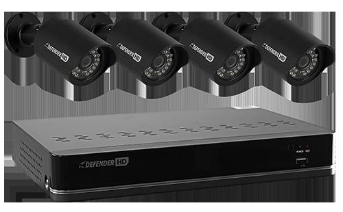HD Security Camera System - 4 CH 4 Camera 500GB DVR