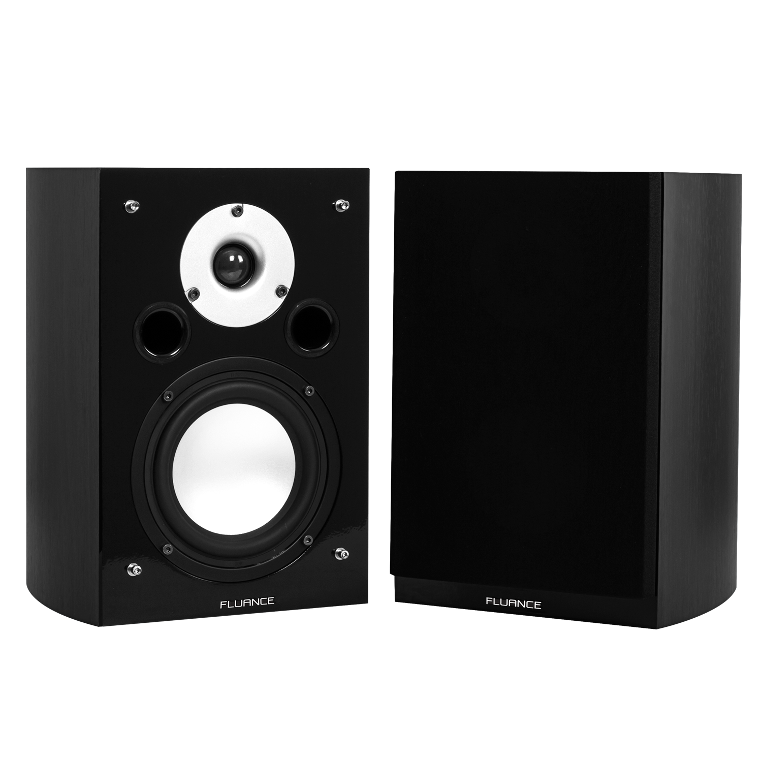 XL7S High Performance Two-way Bookshelf Surround Sound Speakers - Black Ash