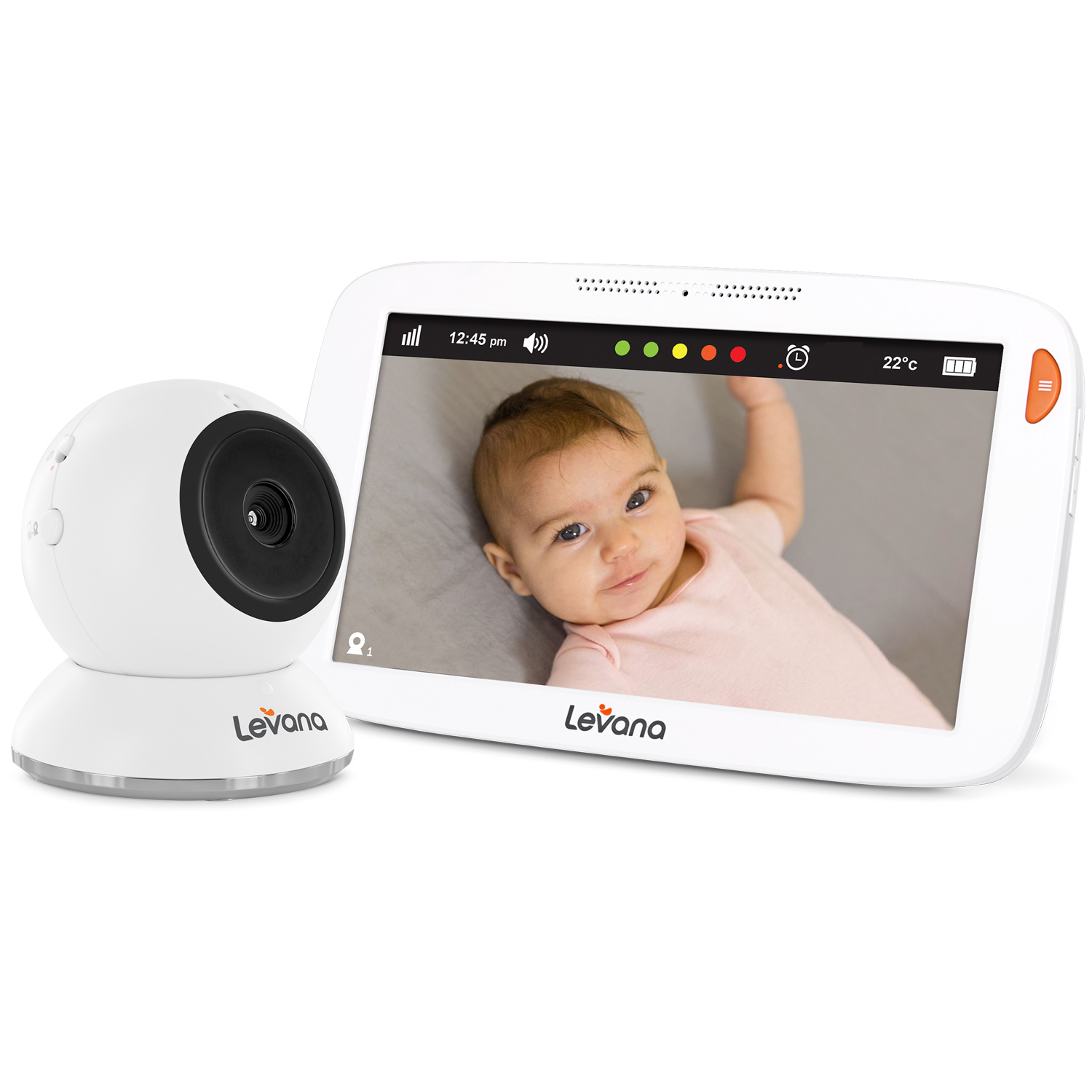 "Amara™ 7"" Touchscreen Video Baby Monitor"