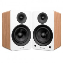 "Ai60W Powered 6.5"" High Performance Bookshelf Speakers - Lucky Bamboo - Main 2"