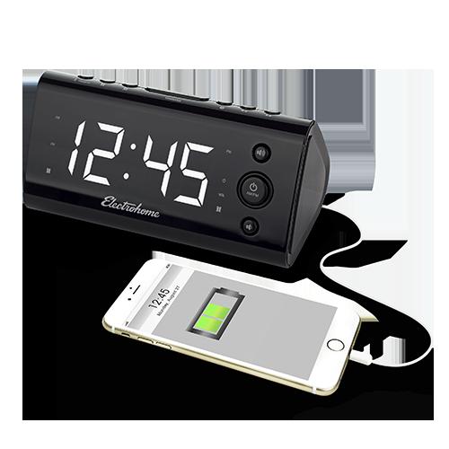 USB Charging Alarm Clock Radio - Alternate 2