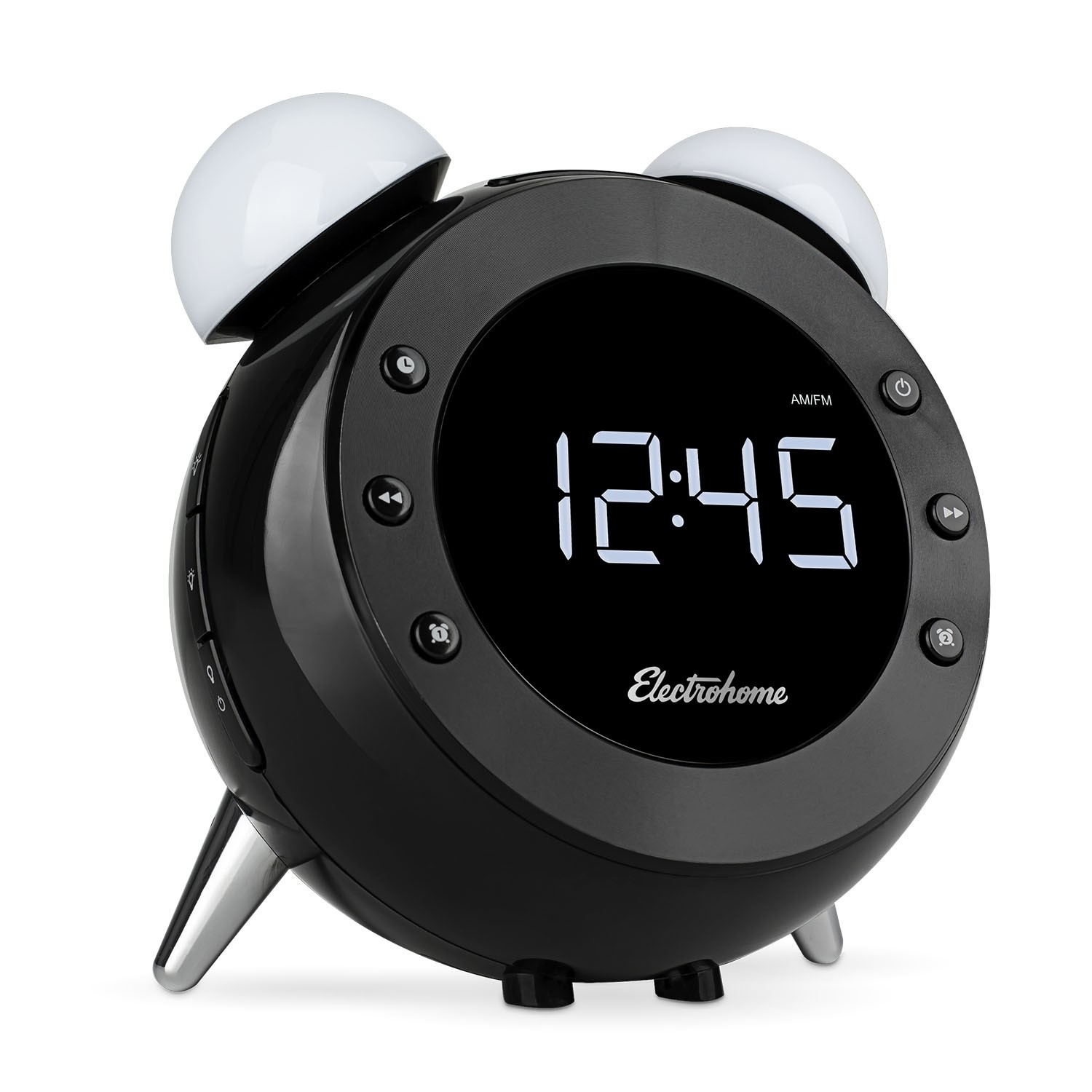 Retro Alarm Clock Radio With Motion Activated Night Light And Snooze Lamp Electrohome