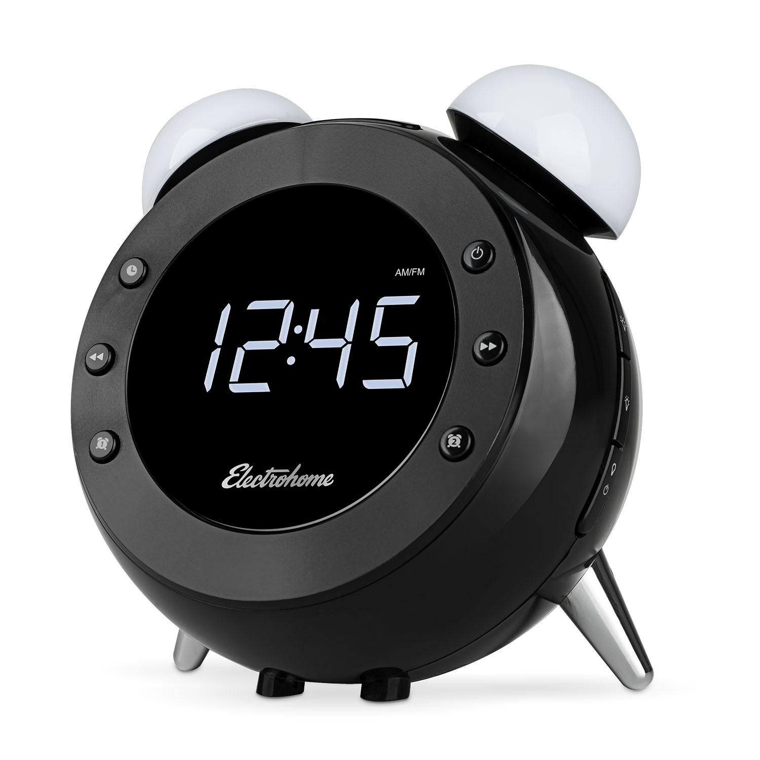 Retro Alarm Clock Radio With Motion Activated Night Light And Snooze