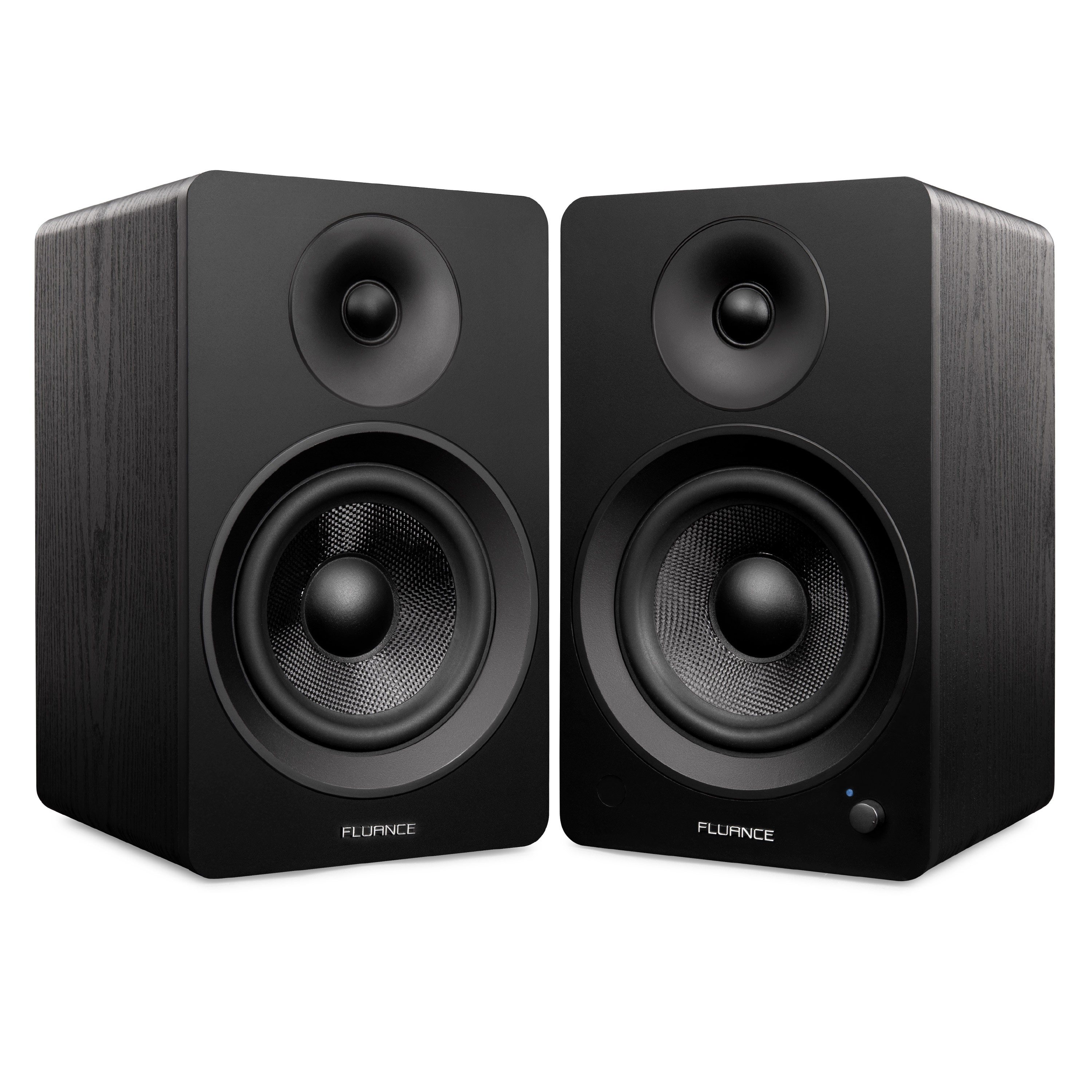 "Ai60 Powered 6.5"" High Performance Bookshelf Speakers - Black - Main"