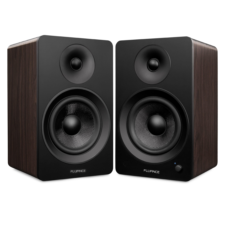 "Ai60B Powered 6.5"" High Performance Bookshelf Speakers - Black & Walnut - Main"