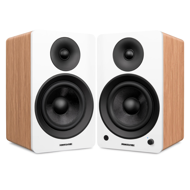 "Ai60W Powered 6.5"" High Performance Bookshelf Speakers - Lucky Bamboo - Main"