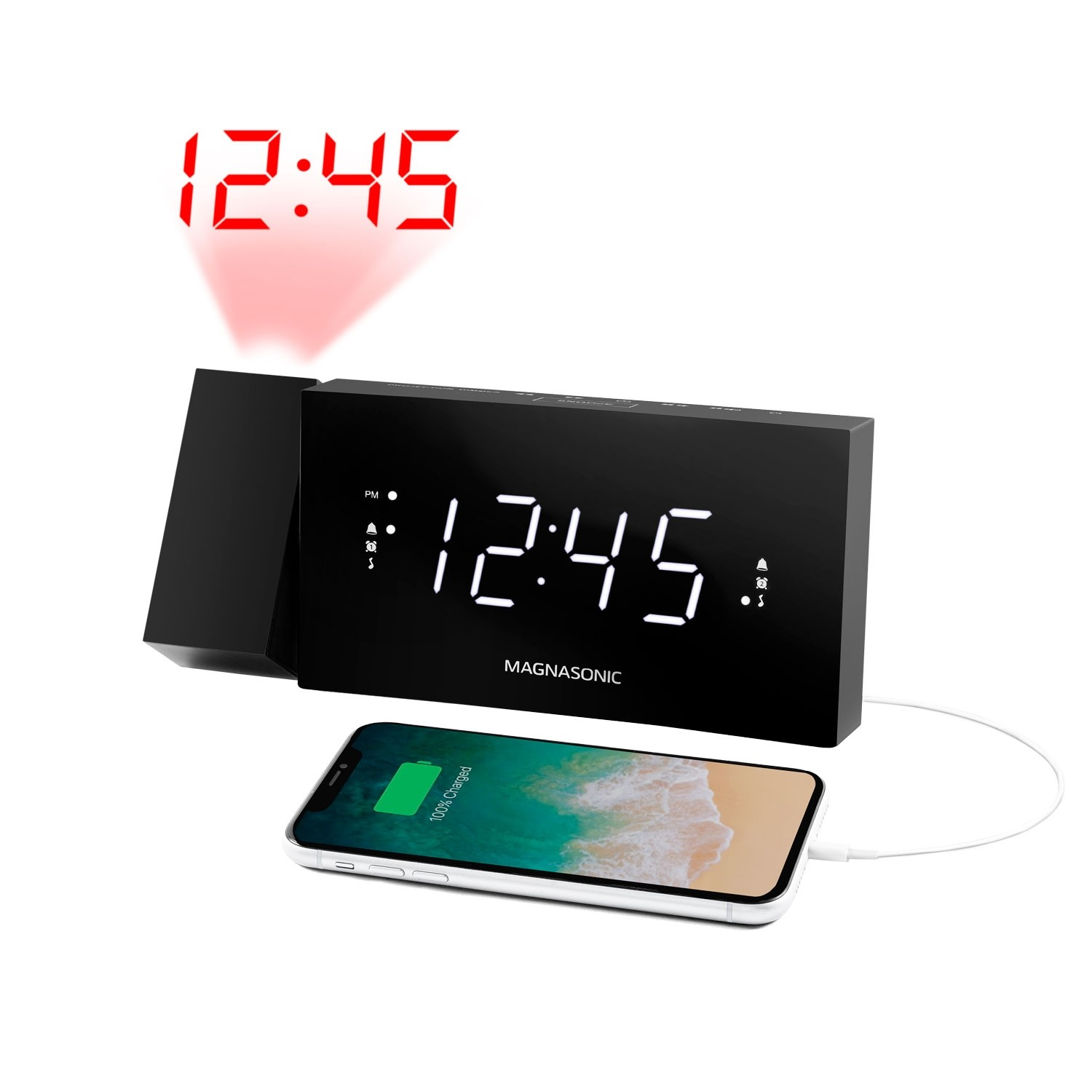 Alarm Clock Radio with USB Charging - Main