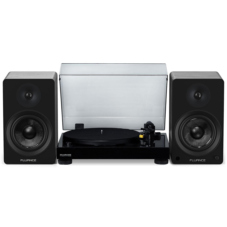 "RT80 Classic High Fidelity Vinyl Turntable with Ai61 Powered 6.5"" Stereo Bookshelf Speakers - Main"