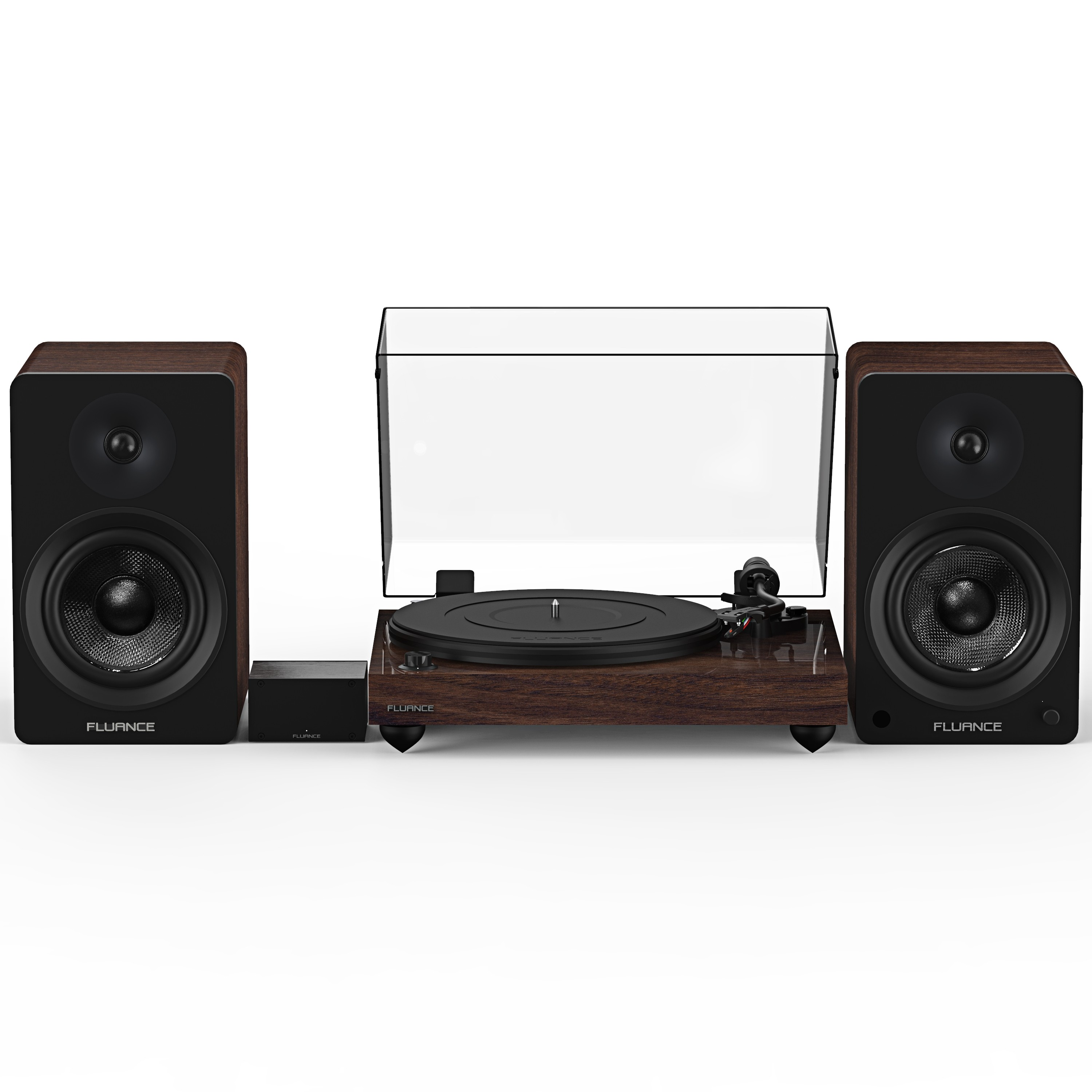 "Reference RT82 High Fidelity Vinyl Turntable with PA10 Phono Preamp and Ai60 6.5"" Powered Bookshelf Speakers"