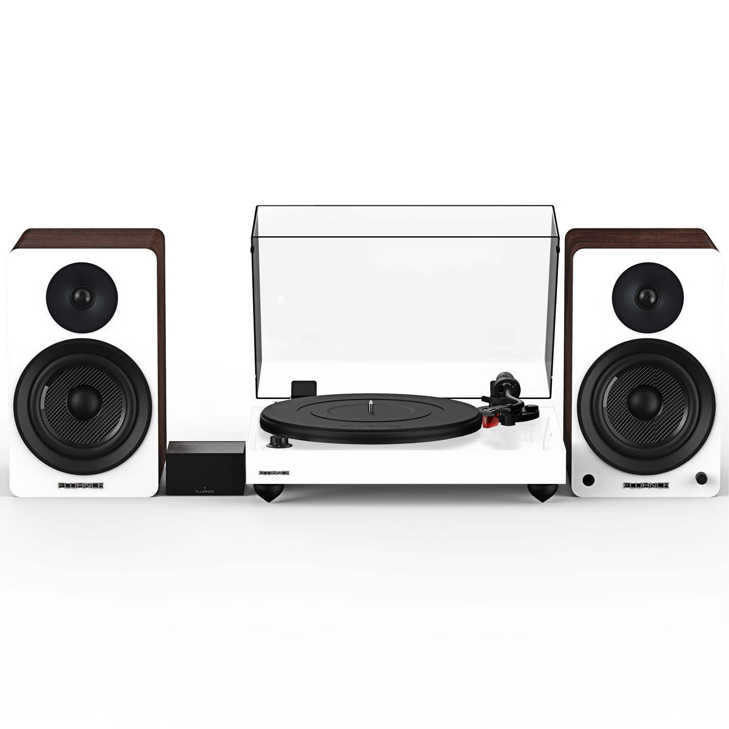 """Reference RT83 High Fidelity Vinyl Turntable with PA10 Phono Preamp and Ai61 Powered 6.5"""" Stereo Bookshelf Speakers - Main"""