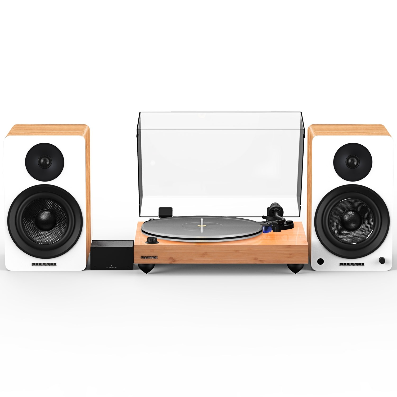 """Reference RT85 High Fidelity Vinyl Turntable with PA10 Phono Preamp and Ai61 Powered 6.5"""" Stereo Bookshelf Speakers"""