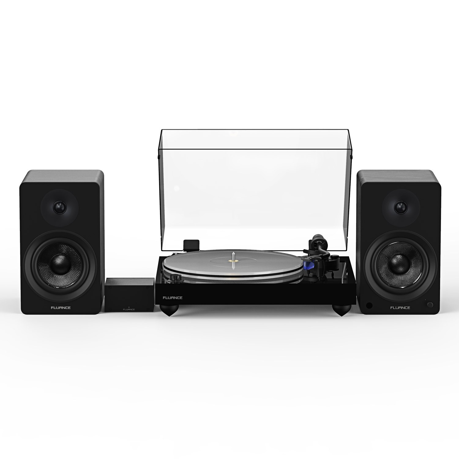 """Reference RT85 High Fidelity Vinyl Turntable with PA10 Phono Preamp and Ai41 Powered 5"""" Bookshelf Speakers - Main"""