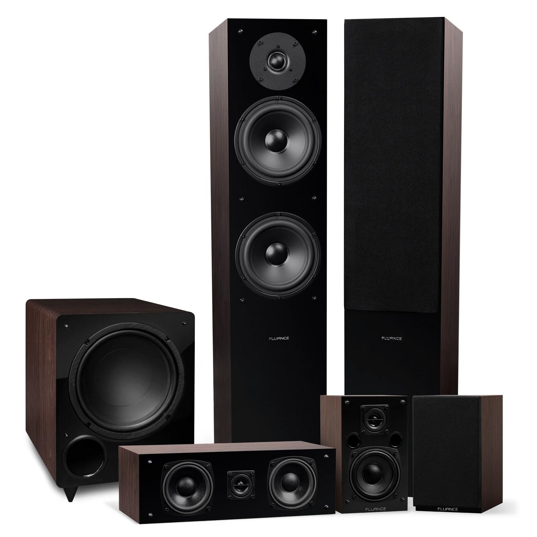 Elite Series Natural Walnut Surround Sound Home Theater 5.1 Channel Speaker System