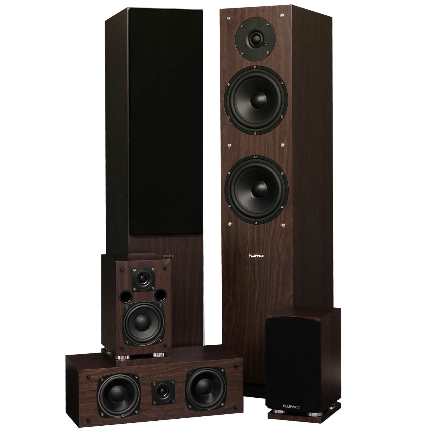 Elite Series Natural Walnut Surround Sound Home Theater 5.0 Channel Speaker System - Alternate