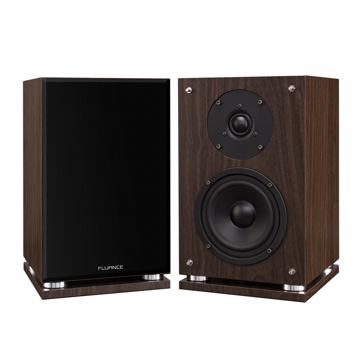 SX6 High Definition Two-way Bookshelf Loudspeakers - Natural Walnut (Fluance - Passive Speakers)