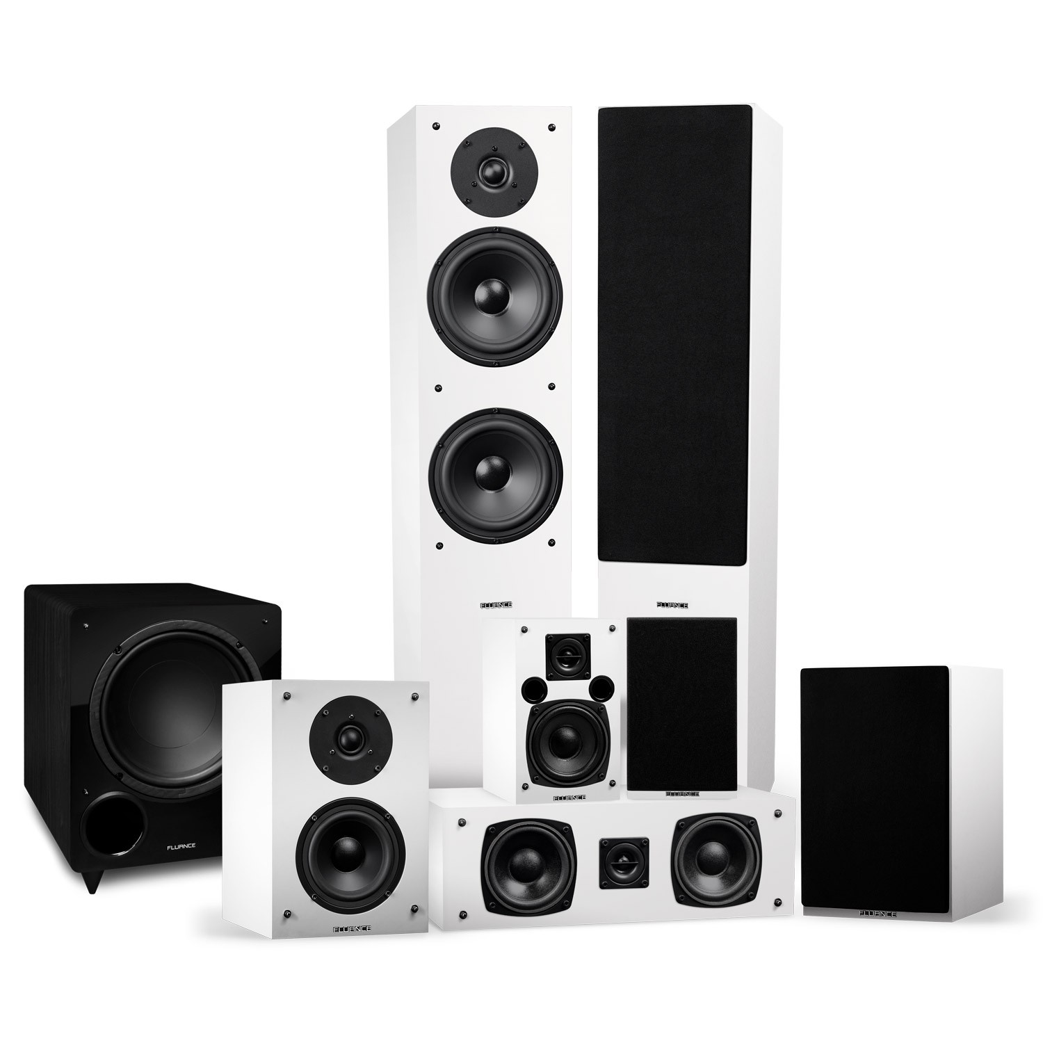 Elite Series Surround Sound Home Theater 7.1 Channel Speaker System - White - Main