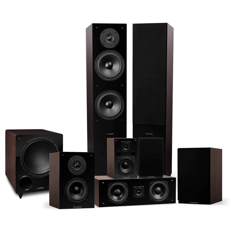 Elite Series Walnut Surround Sound Home Theater 7.1 Channel Speaker System