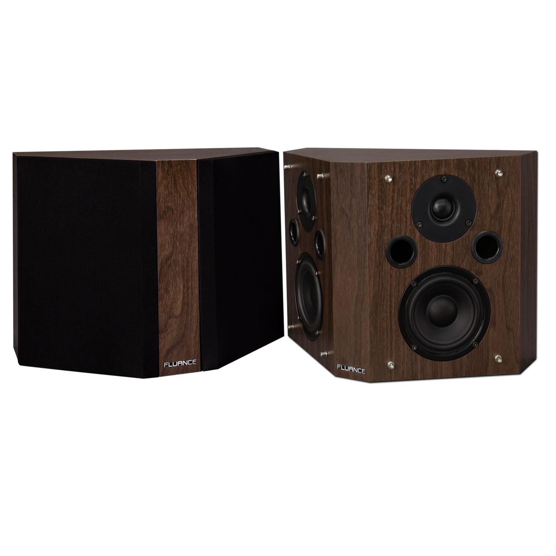 SXBP High Definition Bipolar Surround Sound Speakers - Natural Walnut