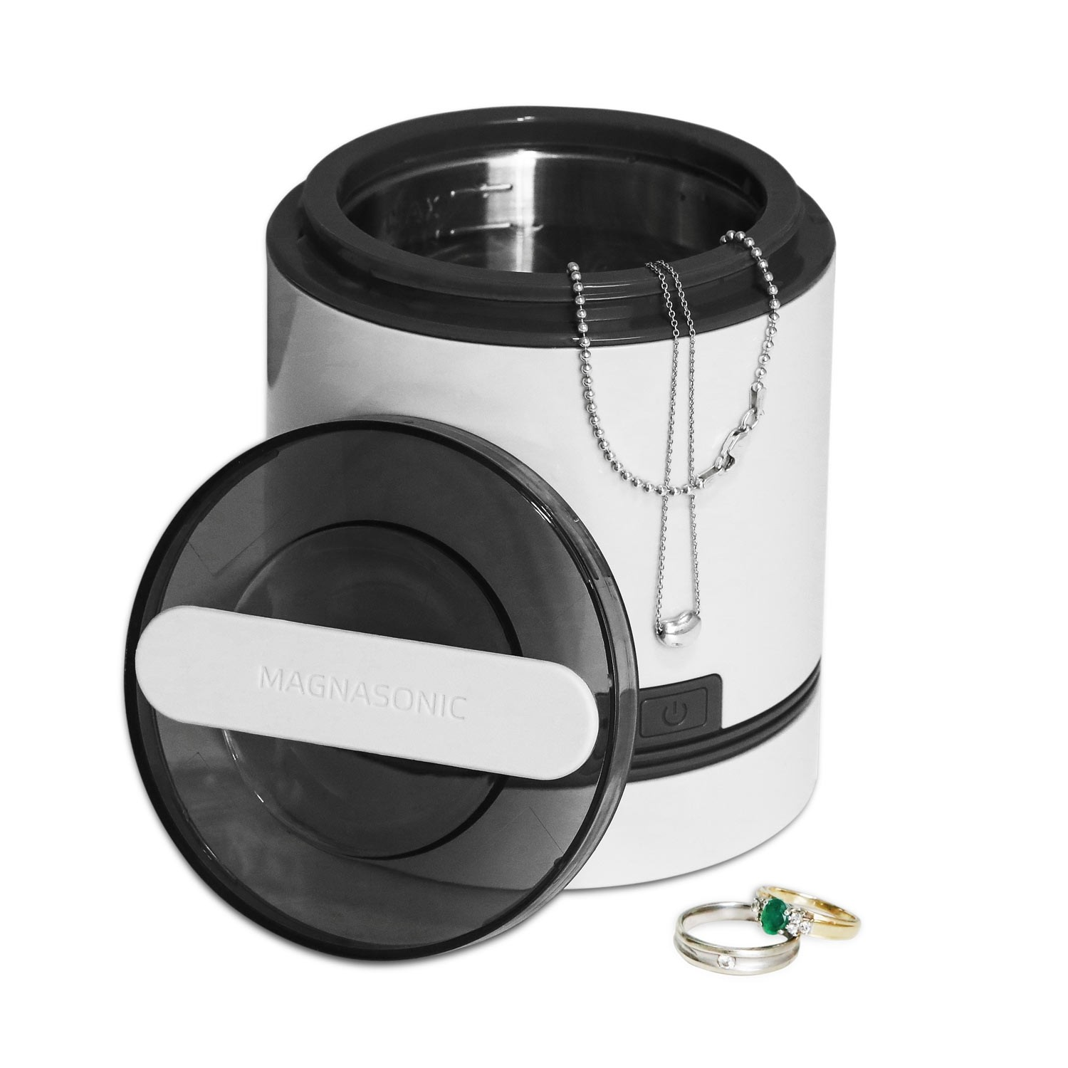 Ultrasonic Dental & Jewelry Cleaner - Overflowing with Jewelry