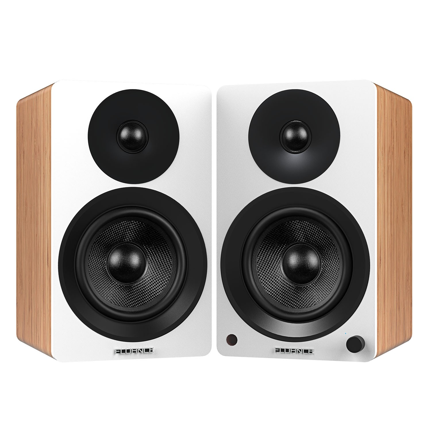 "Ai60W Powered 6.5"" High Performance Bookshelf Speakers - Lucky Bamboo - Main"