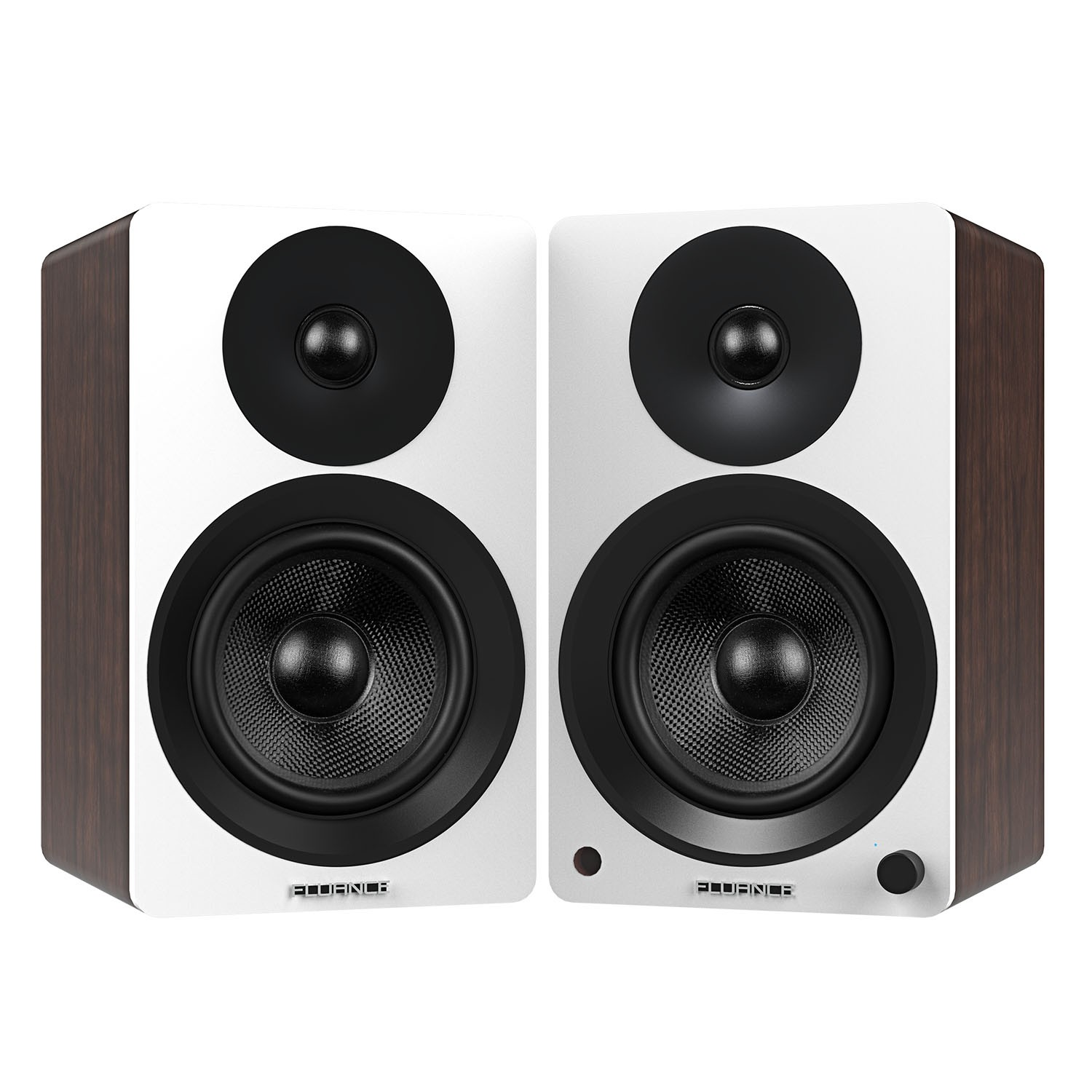 "Ai60WW Powered 6.5"" High Performance Bookshelf Speakers - White Walnut"