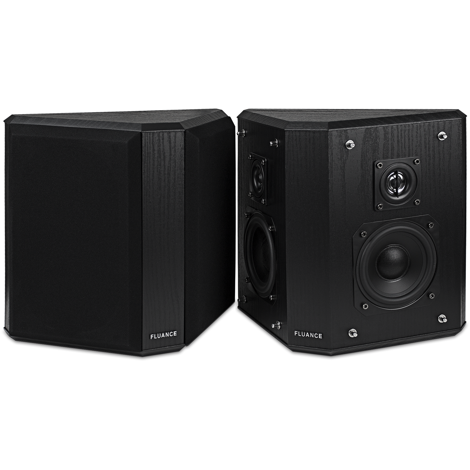 Fluance AVBP2 Main Speaker Set Black Ash Main 2