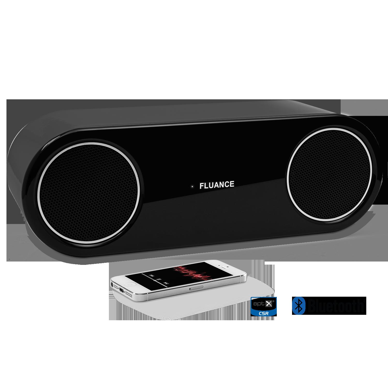 Fluance FI30 High Performance Wireless Bluetooth Wood Speaker System Piano Black