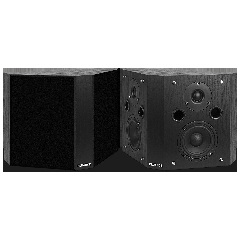 Fluance SXBP High Definition Bipolar Surround Sound Speakers - Black Ash