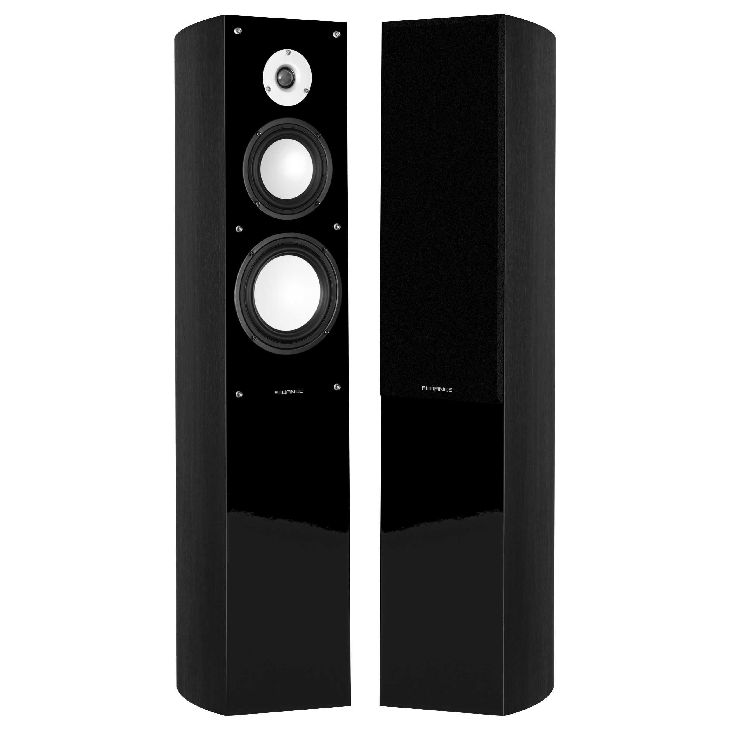 Fluance XL5FBK Black Ash Floorstanding Tower Speakers