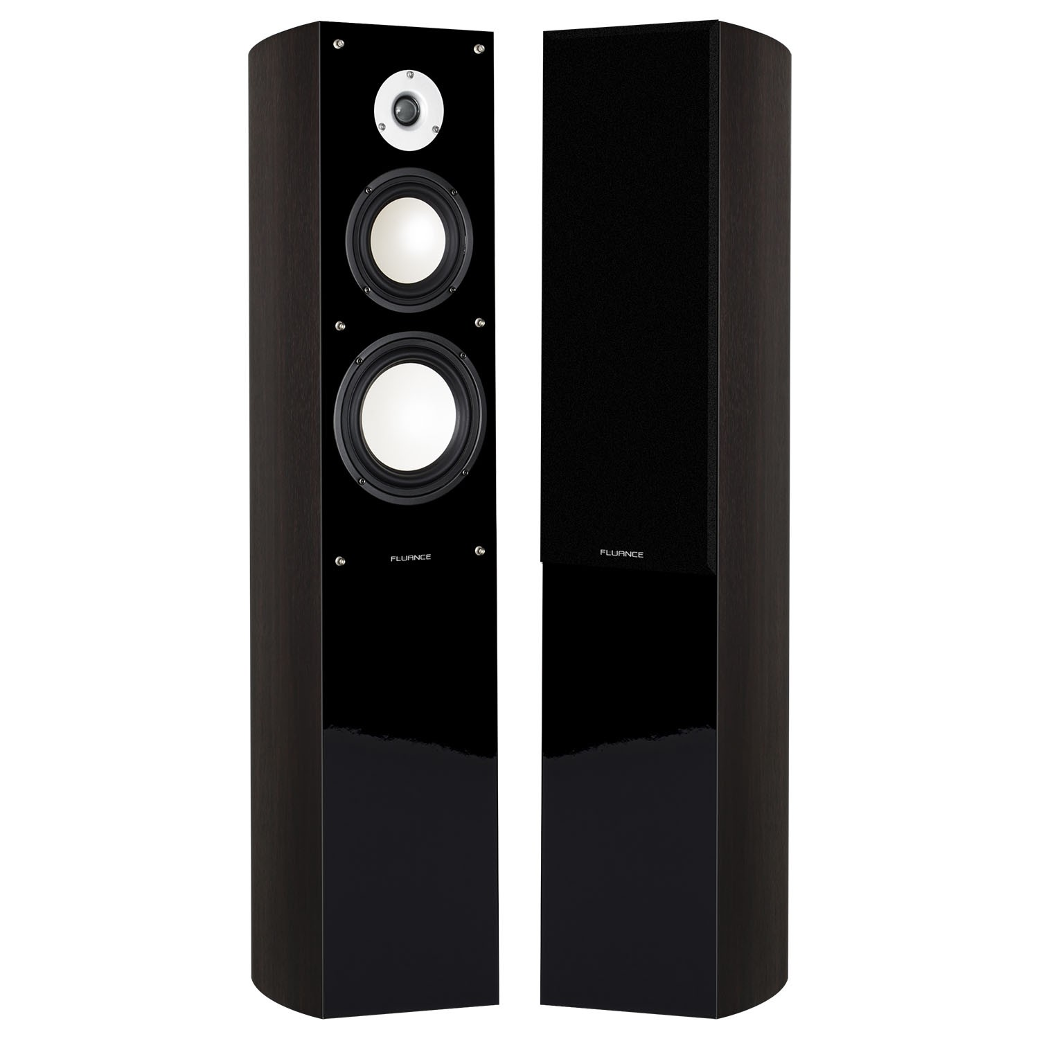 Fluance XL5F Dark Walnut Front Floorstanding Speakers Main 3