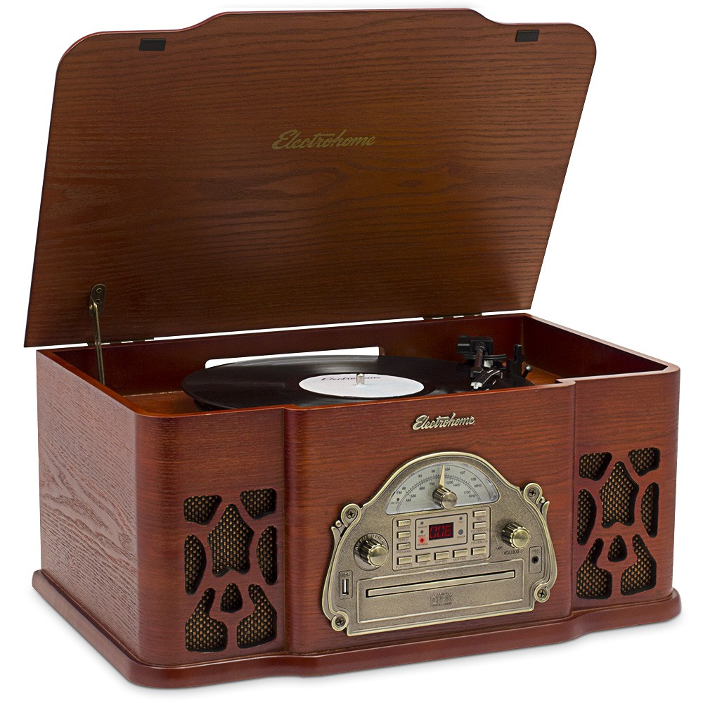 Wellington™ Record Player Retro Vinyl Turntable Stereo System