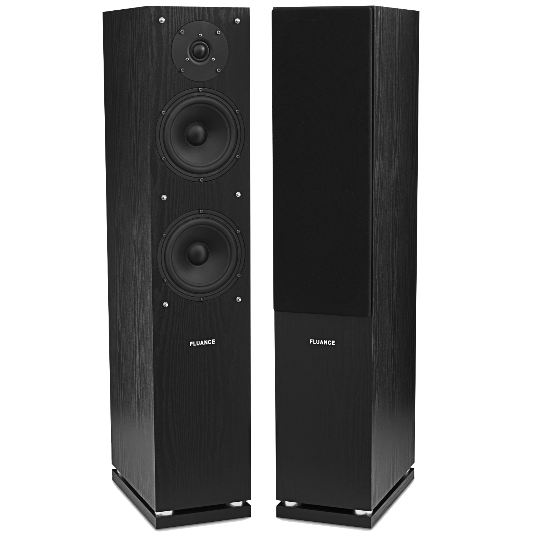 Fluance High Definition Two-way Floorstanding Main Speakers - Black (SXHTBFR-BK)
