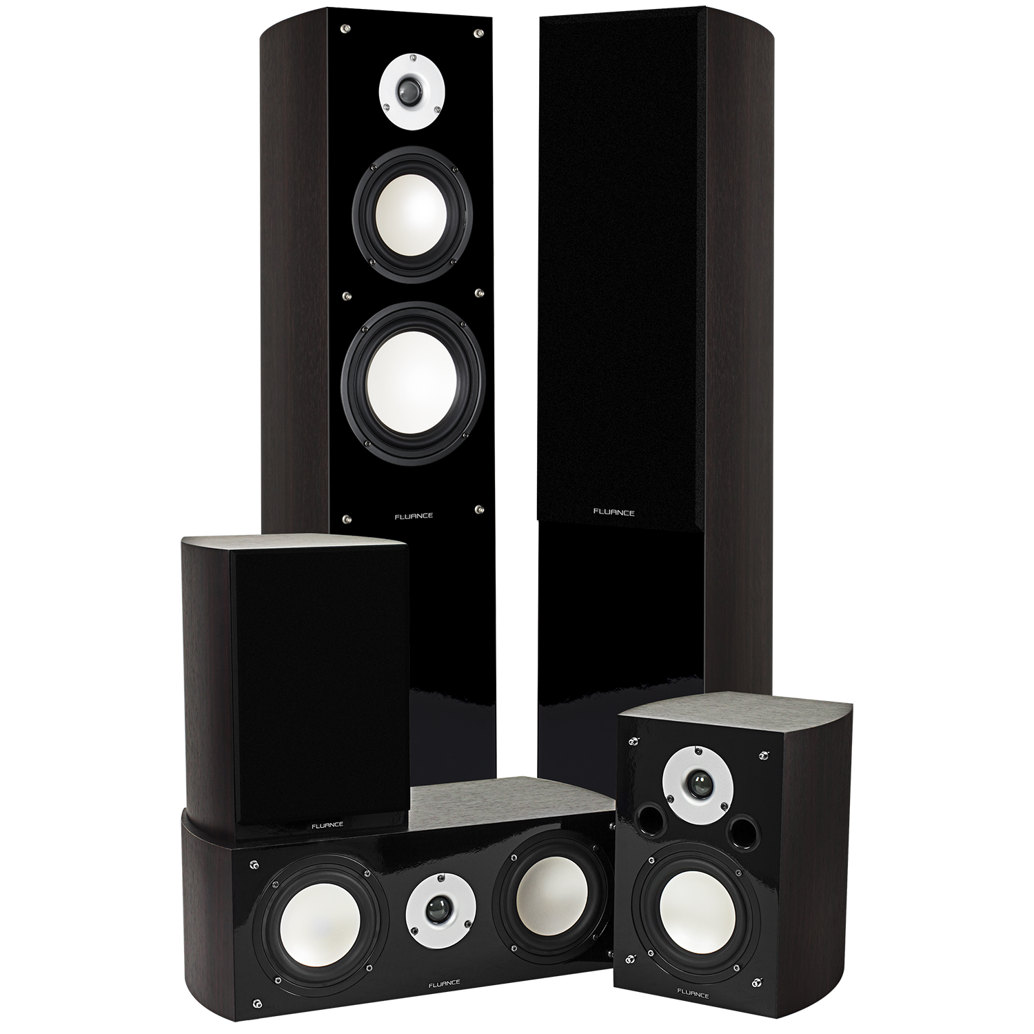 Fluance XL5HTBDW Dark Walnut Home Theater Speaker System Main 2