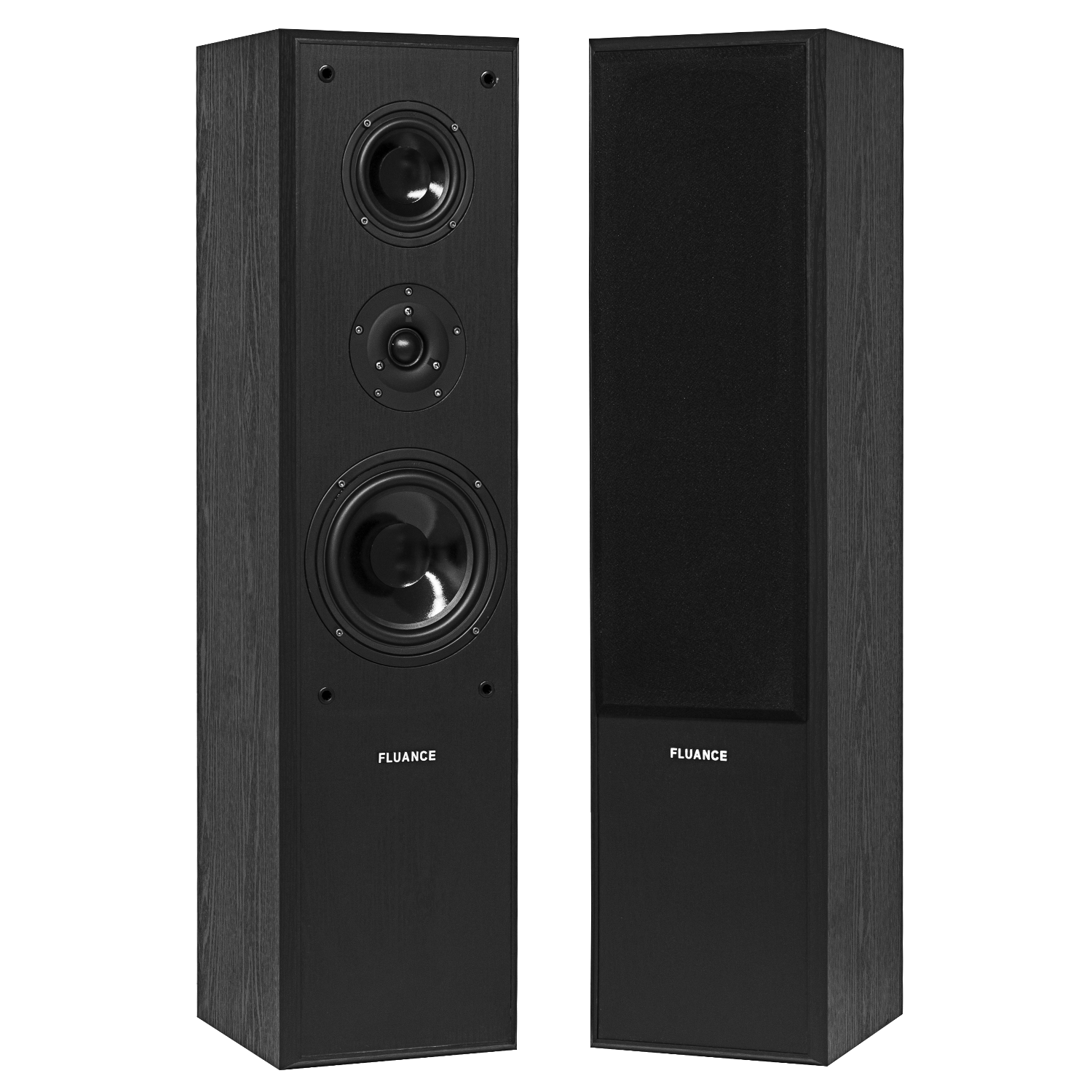 Fluance AVFR Black Ash Floorstanding Speakers