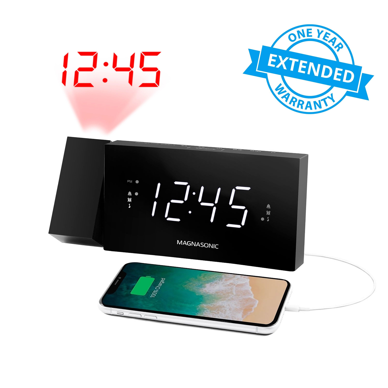 1 Year Warranty for Alarm Clock Radio with USB Charging