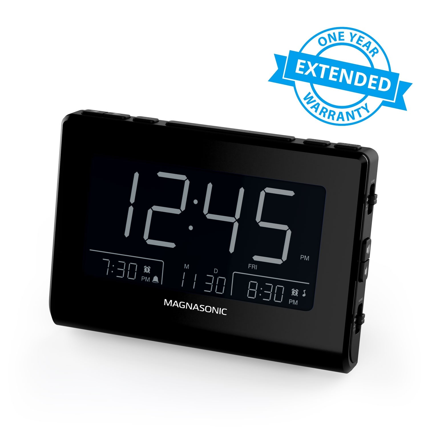 1 Year Warranty for the Alarm Clock Radio With USB Charging
