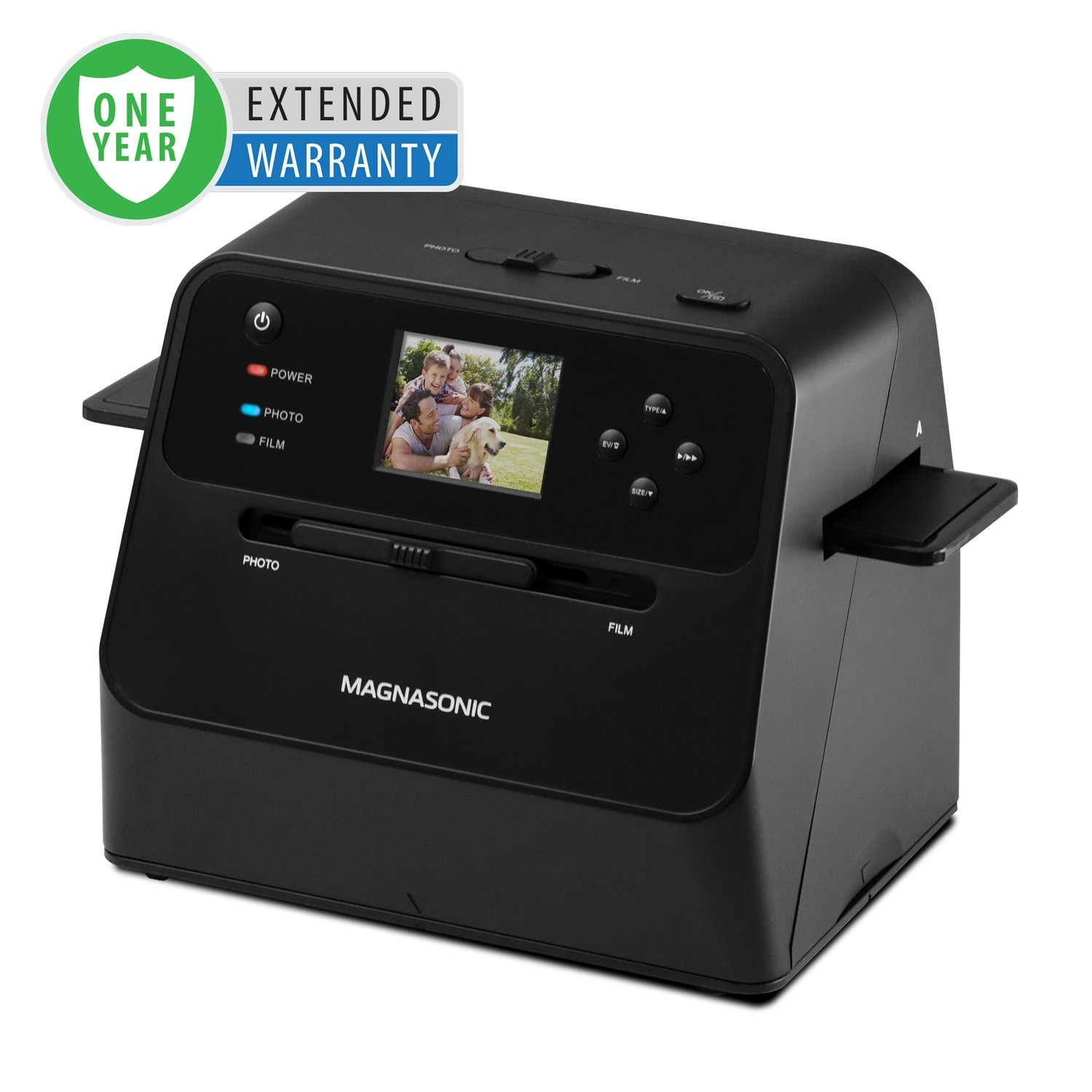 1 Year Warranty for the All-In-One 14MP Film & Photo Scanner