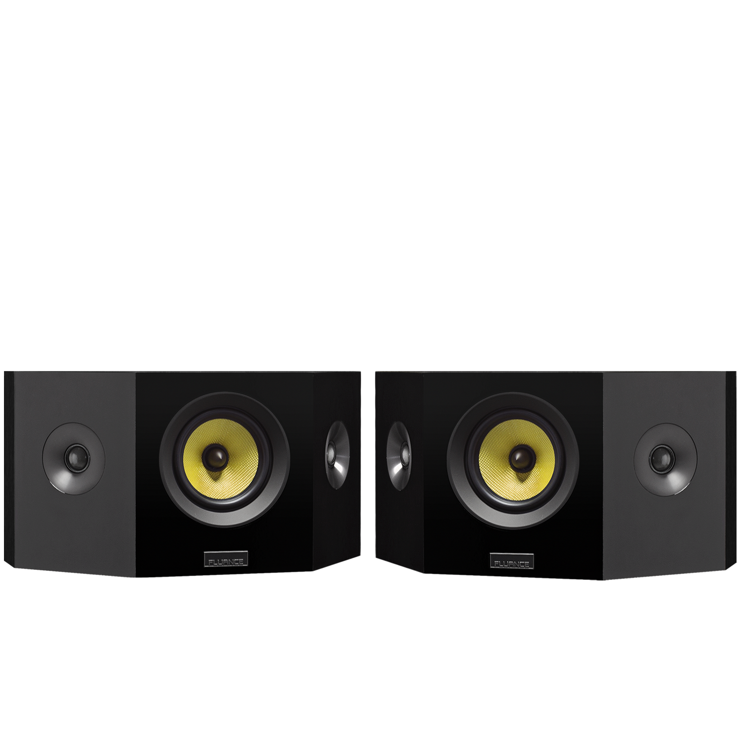 Fluance HFBPW Black Ash Bipolar Wide Dispersion Speakers - Black Ash