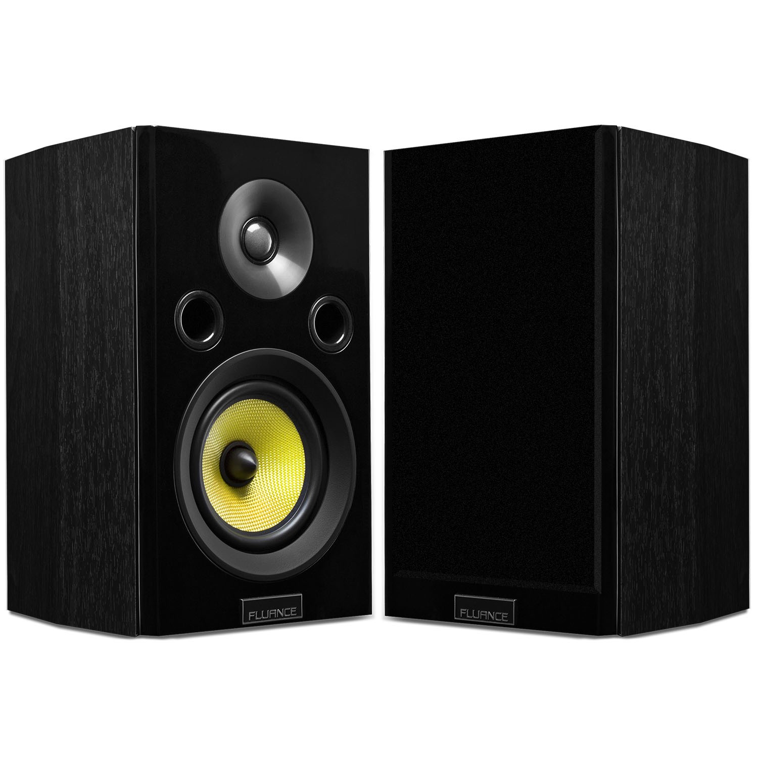 Fluance Signature Series Black Ash Bookshelf Speakers Alternate