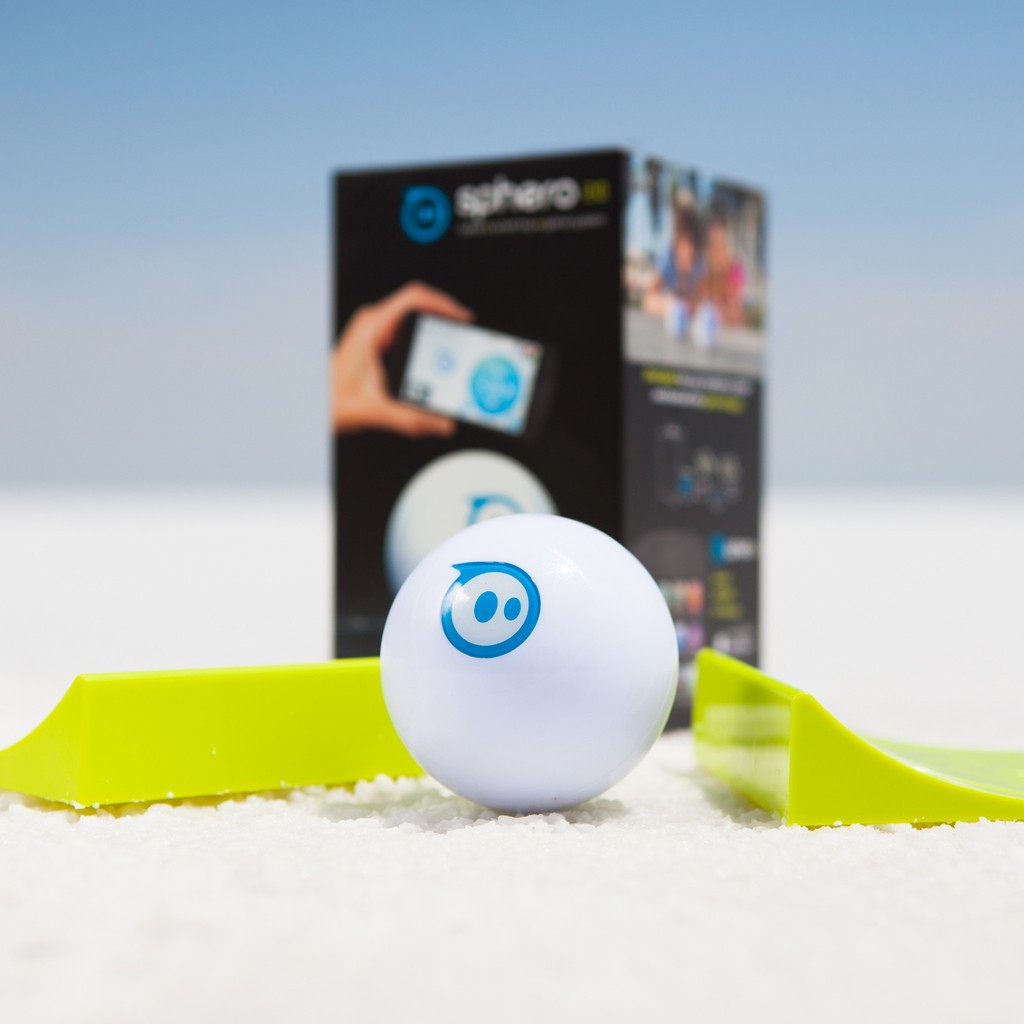 Orbotix Sphero 2.0 App Controlled Robotic Ball - Retail Packaging - White/Blue