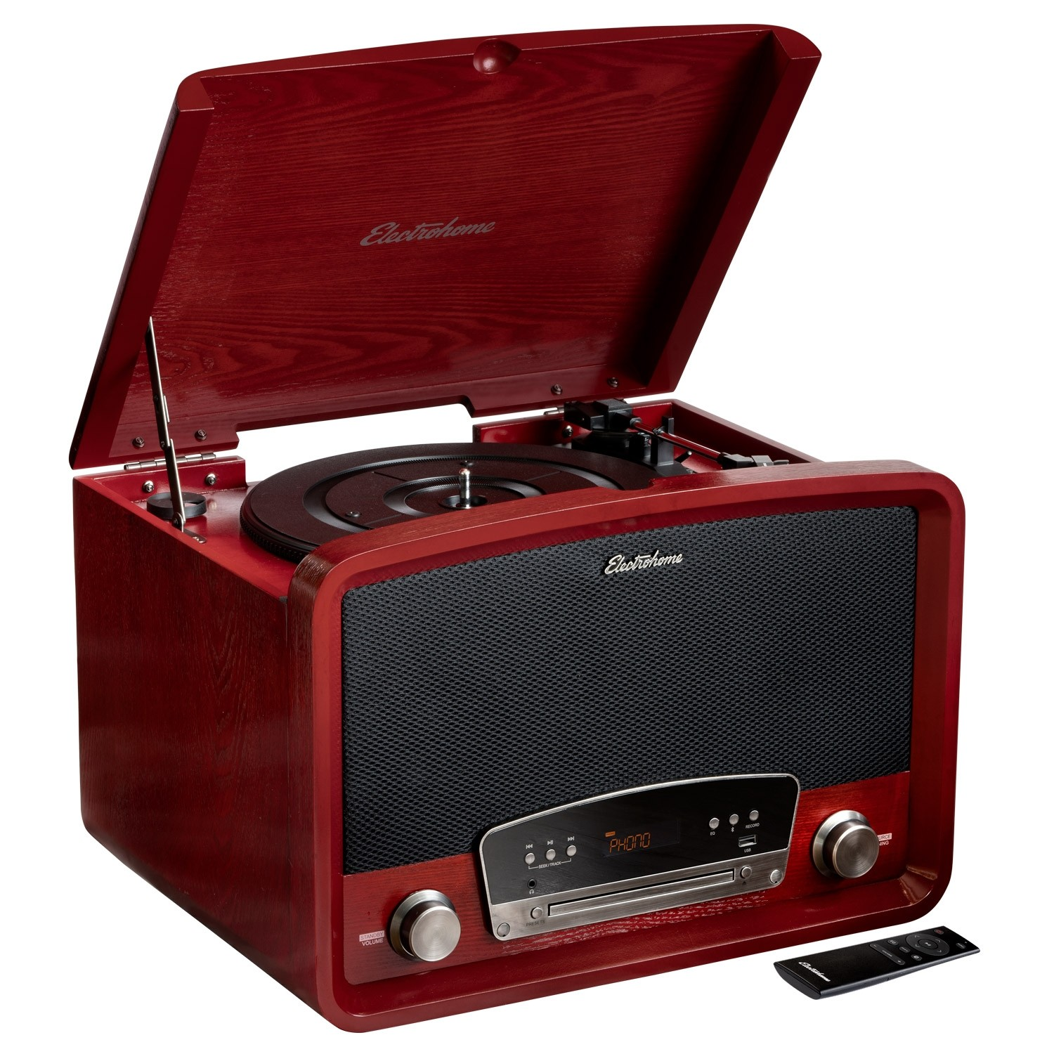 Kingston 7-in-1 Vinyl Record Player - Main Cherry - Alternate 3