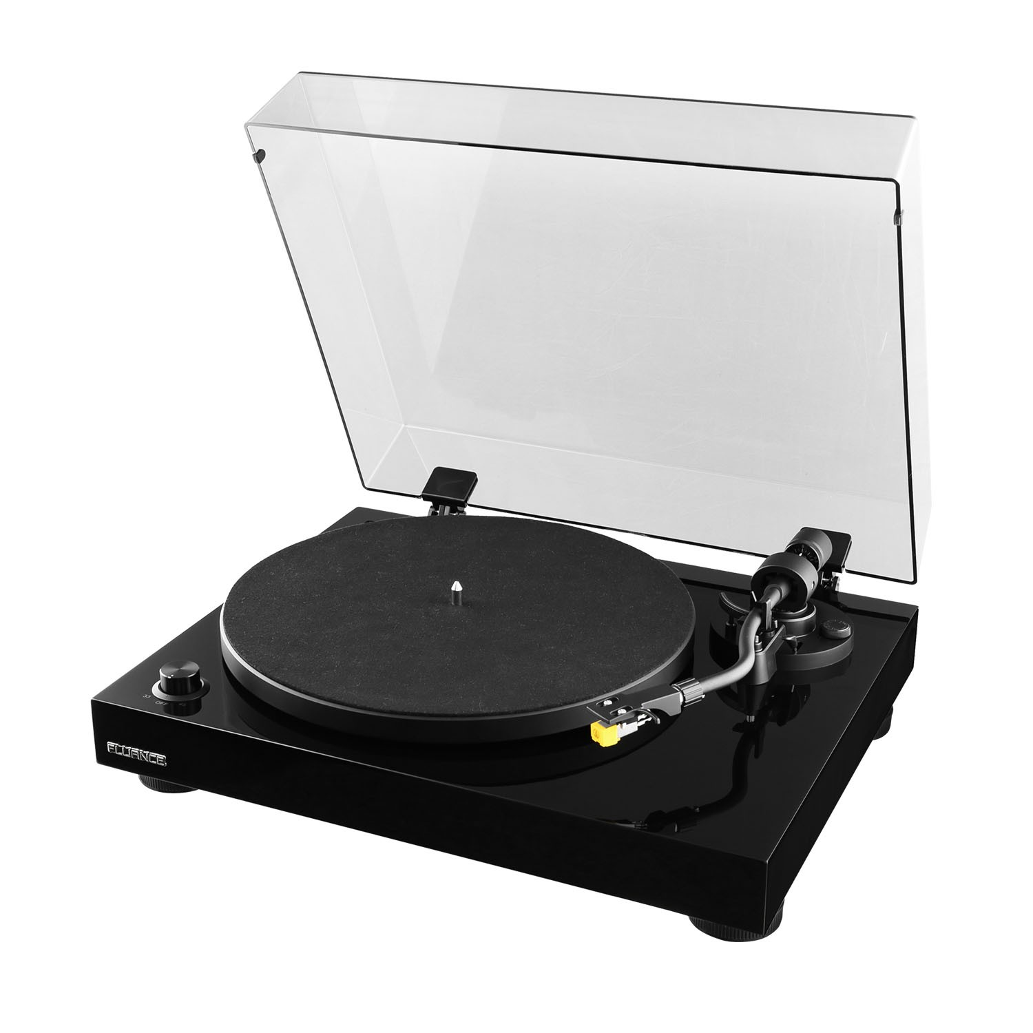 Fluance RT80 Piano Black Turntable Record Player Main