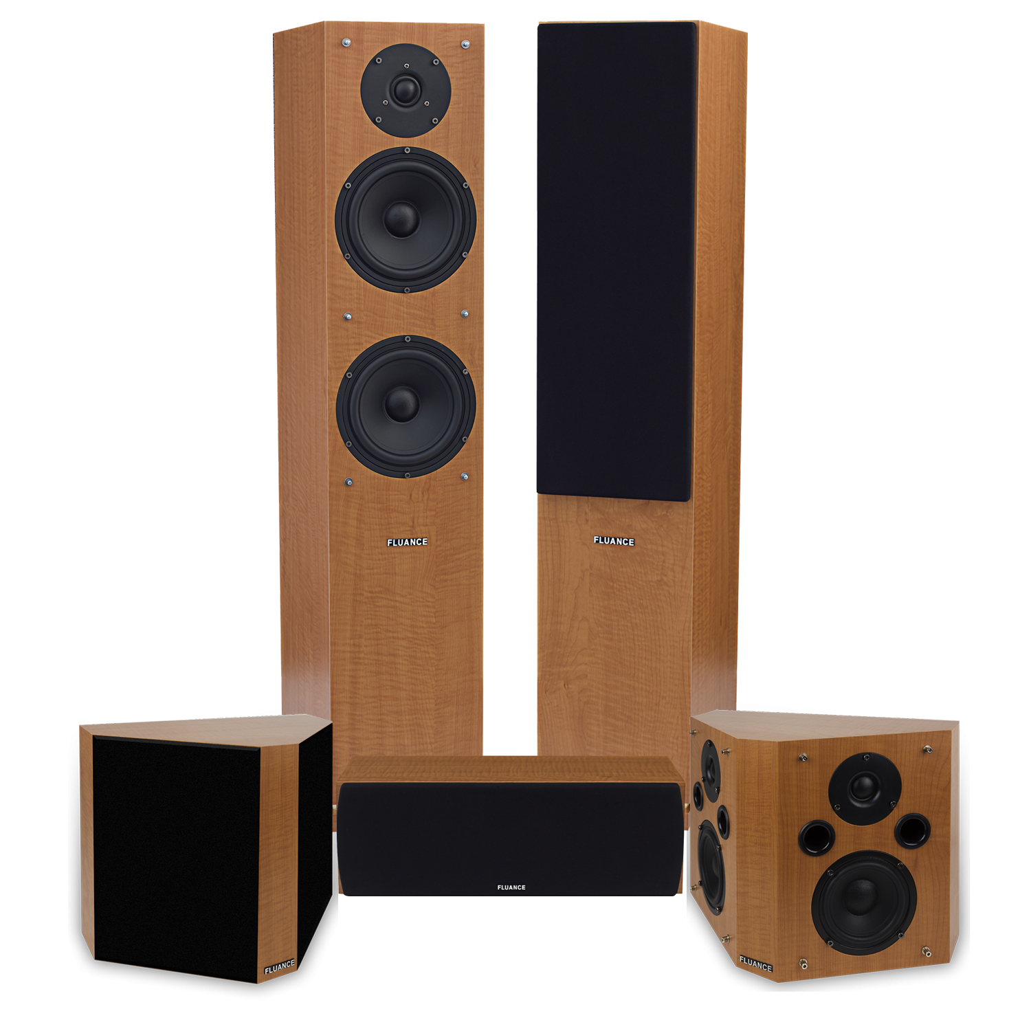 Fluance SXHTBBP-KIT Classic Elite Home Theater System With Bipolar Speakers