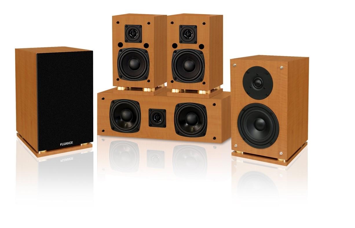 Fluance SXHTBCS Beech Wood Compact Speaker System