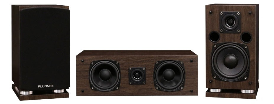 Classic Elite Series Center Channel & Surround Sound Speakers (Natural Walnut)