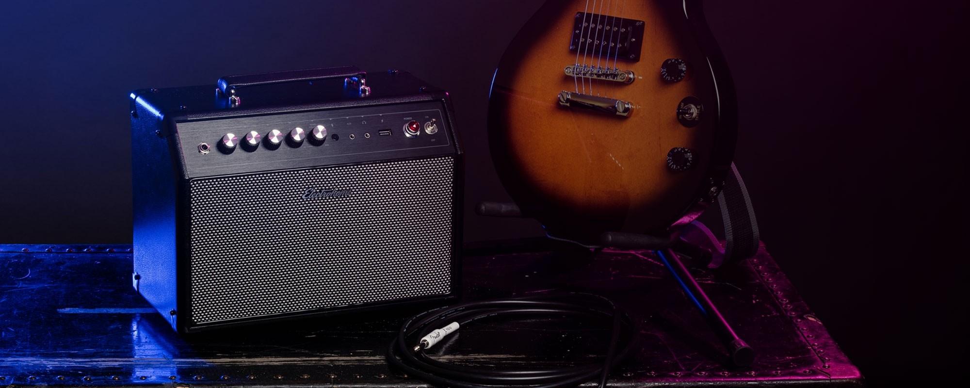 Birmingham High Performance Retro Music System with Gibson guitar